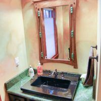 solid stone bathroom countertops