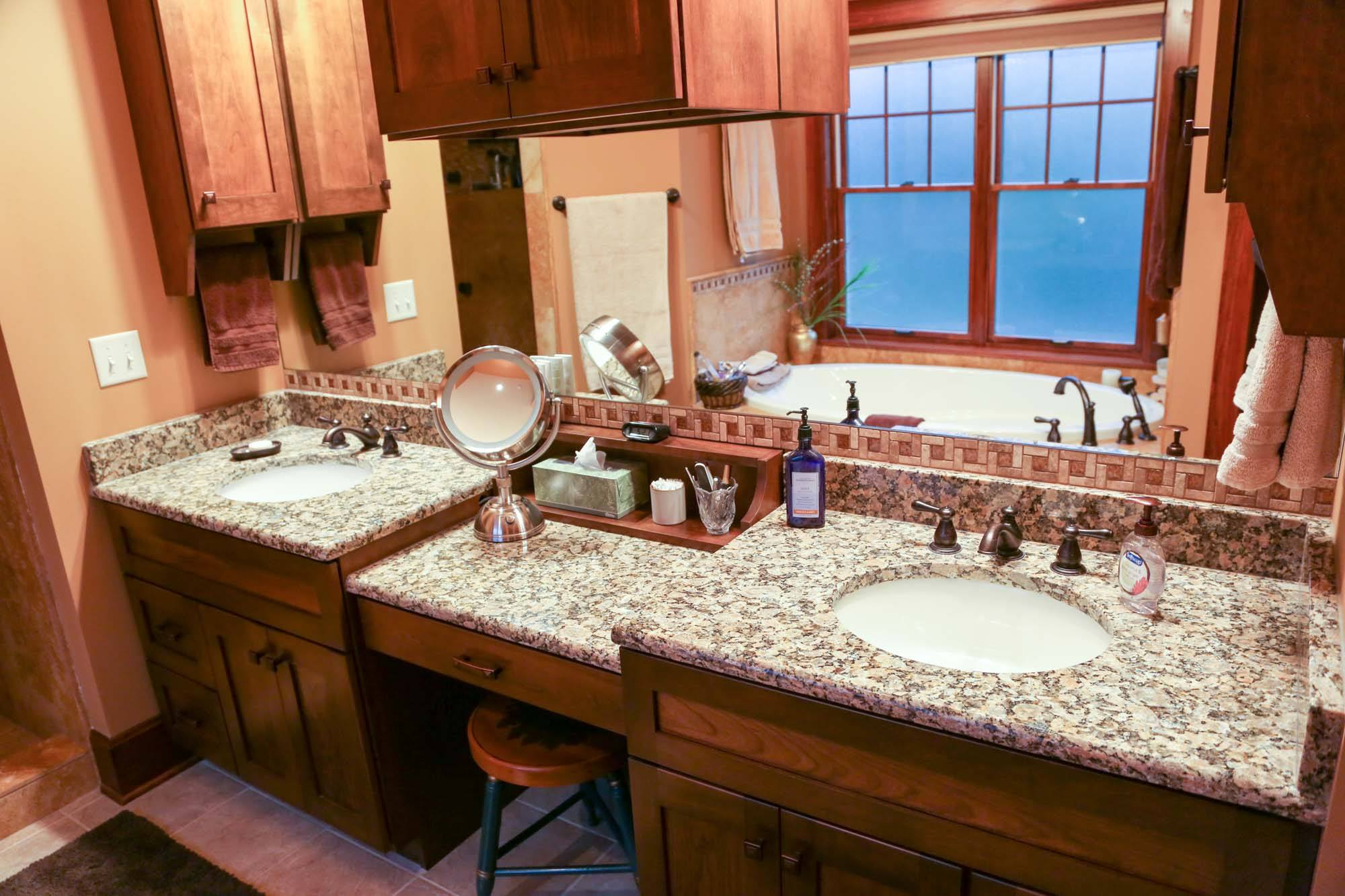 all stone luna with bathroomlunapearl and inc built sinks pearl bathroom color granite countertops two counterinstallationimages tops blue in countertop