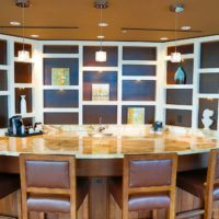 stone countertop meeting space