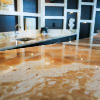 solid stone countertops upclose